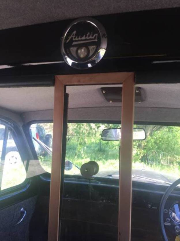 1964 London Austin FX4 Black Cab - Branson Interior Detail
